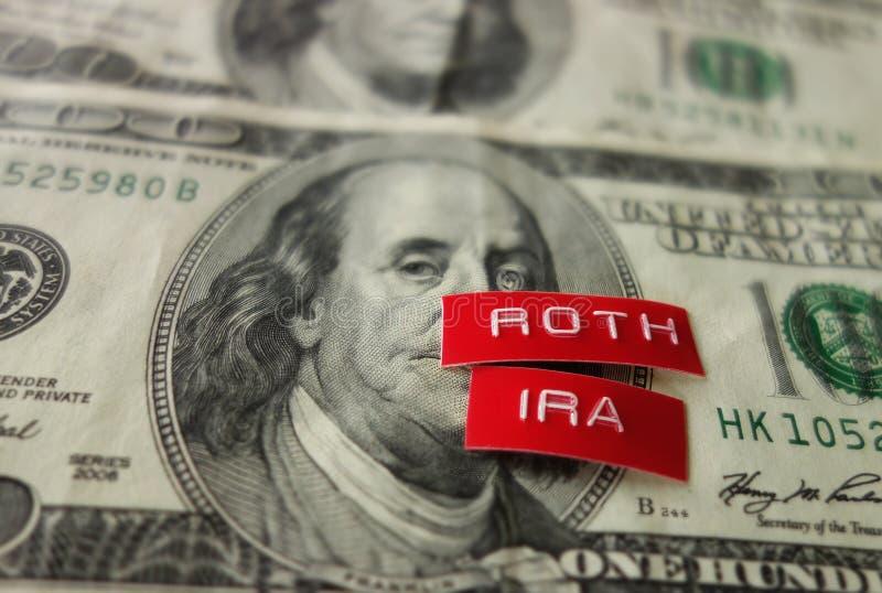 Concepto de Roth IRA imagen de archivo libre de regalías