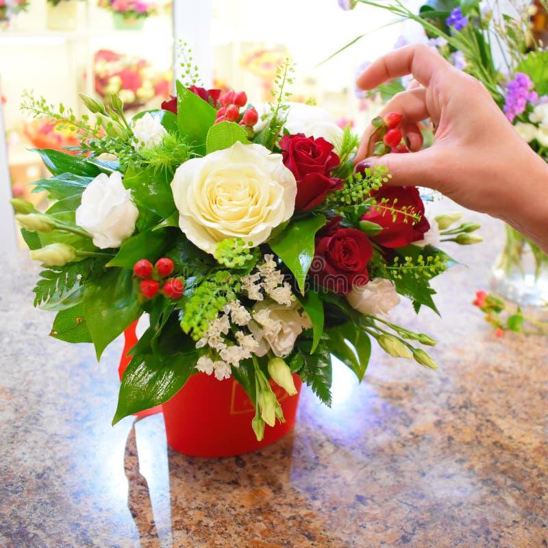 Concepto de salón de la flor Foto para la página web de la flor imagen de archivo