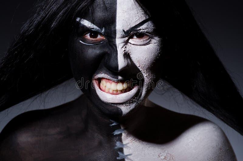 Concepto de Satanás Halloween imágenes de archivo libres de regalías