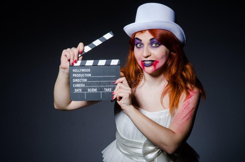 Concepto de Satanás Halloween con película fotos de archivo libres de regalías