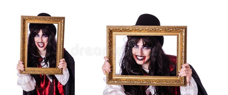 Concepto de Satan?s Halloween aislado en blanco fotografía de archivo