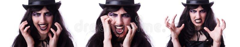 Concepto de Satan?s Halloween aislado en blanco fotos de archivo