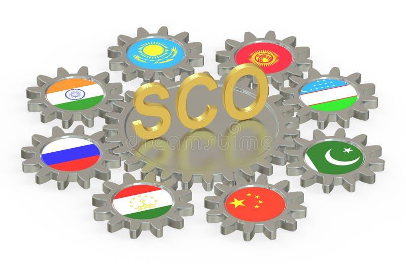 Concepto de SCO, representación 3D libre illustration