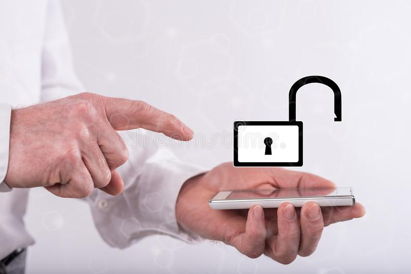 concepto de seguridad cibernética fotos de archivo