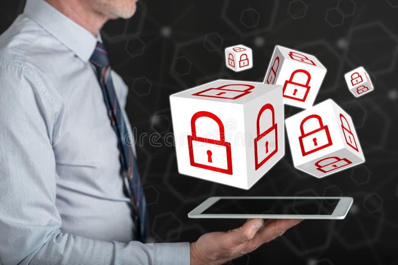 concepto de seguridad cibernética imagenes de archivo