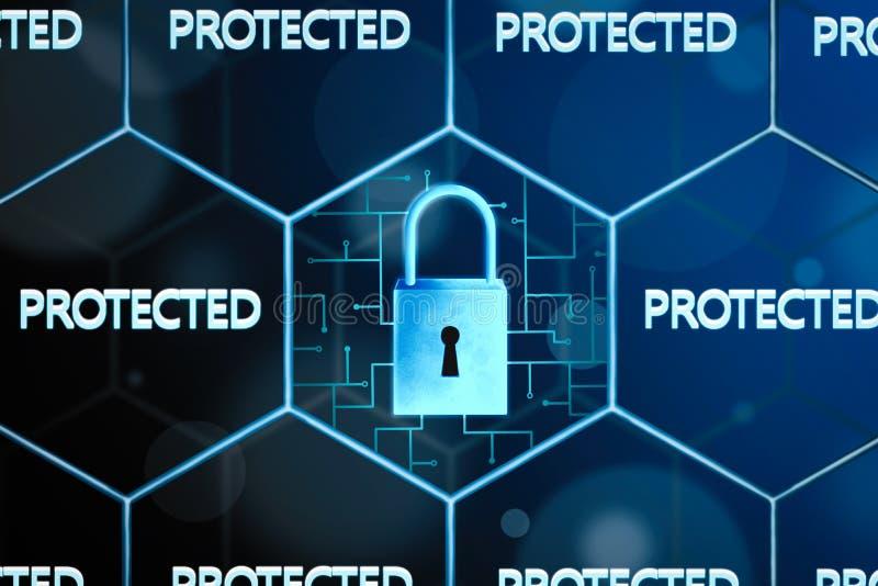 Concepto de seguridad de la red libre illustration