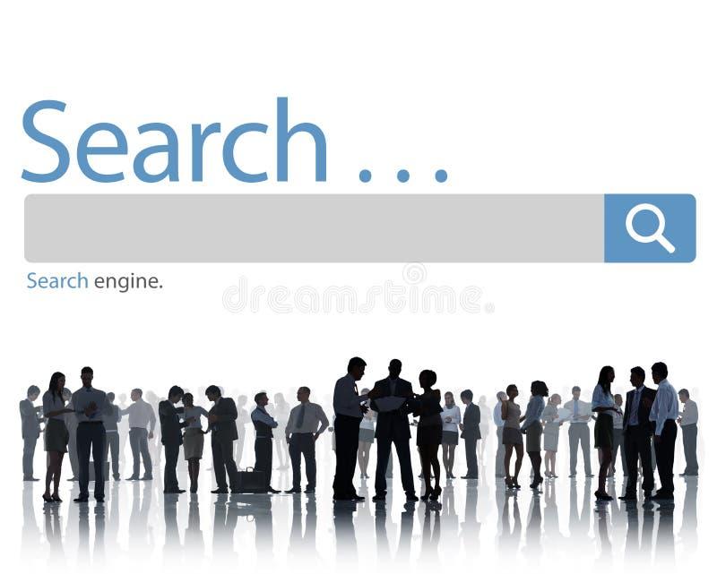 Concepto de Seo Online Internet Browsing Web de la búsqueda ilustración del vector