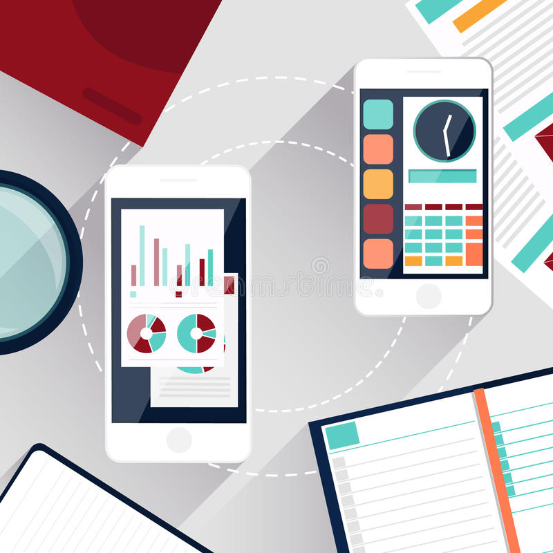 Concepto de servicios móviles libre illustration