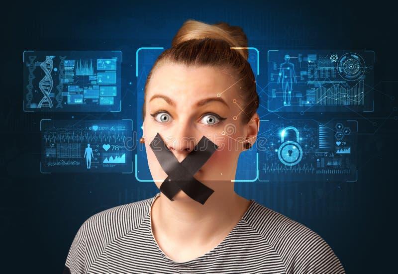 Concepto de sistema del reconocimiento facial imágenes de archivo libres de regalías