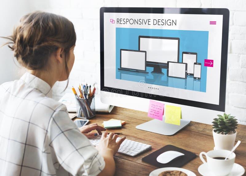 Concepto de software responsivo de la disposición de diseño imagen de archivo libre de regalías