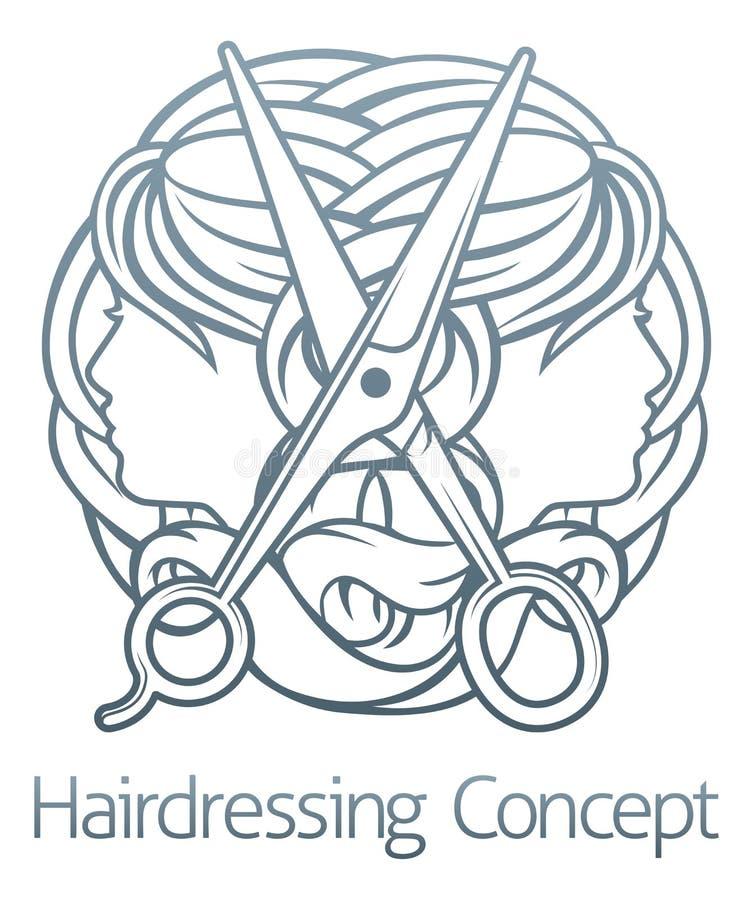Concepto de Stylist Hair Salon del peluquero libre illustration