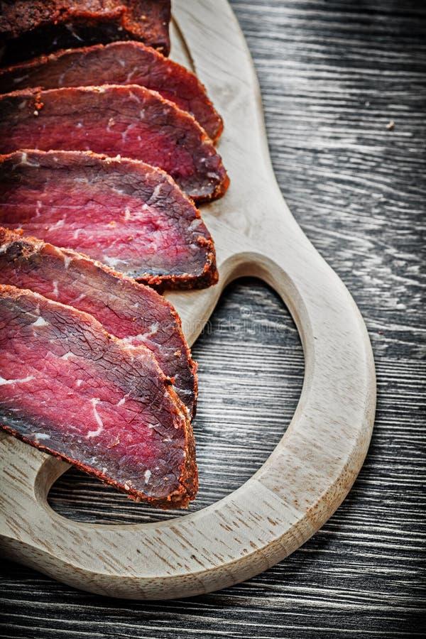 Concepto de talla de madera tallado de la comida del tablero del filete fotos de archivo