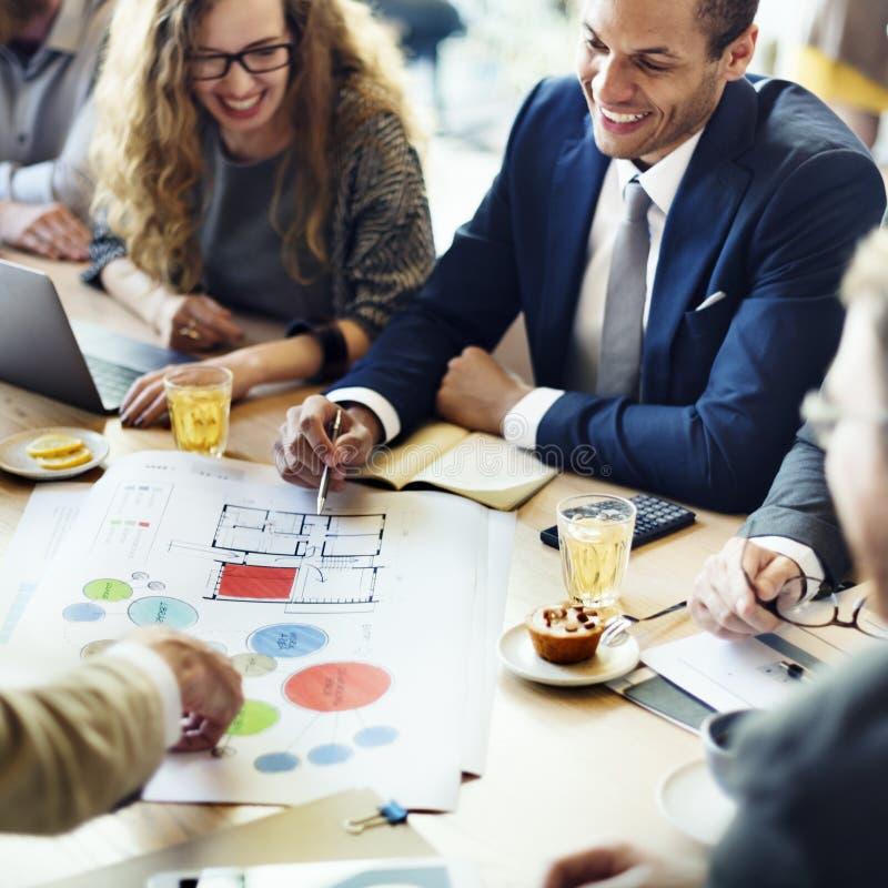 Concepto de Team Meeting Brainstorming Planning Analysing fotos de archivo