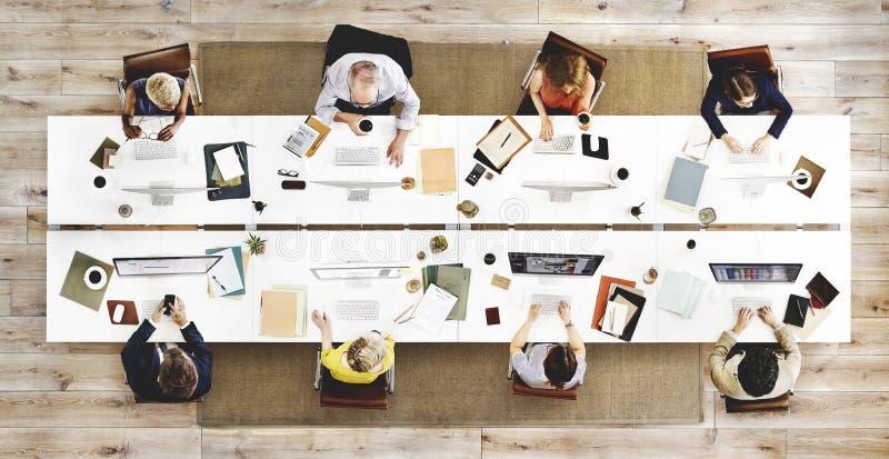 Concepto de Team Meeting Connection Digital Technology del negocio foto de archivo