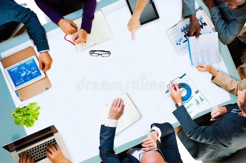 Concepto de Team Planning Board Meeting Strategy del negocio de la diversidad imágenes de archivo libres de regalías