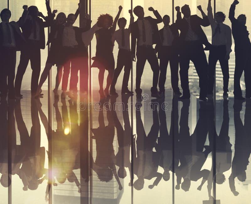 Concepto de Team Teamwork Business Coworker Occupation del éxito imagenes de archivo