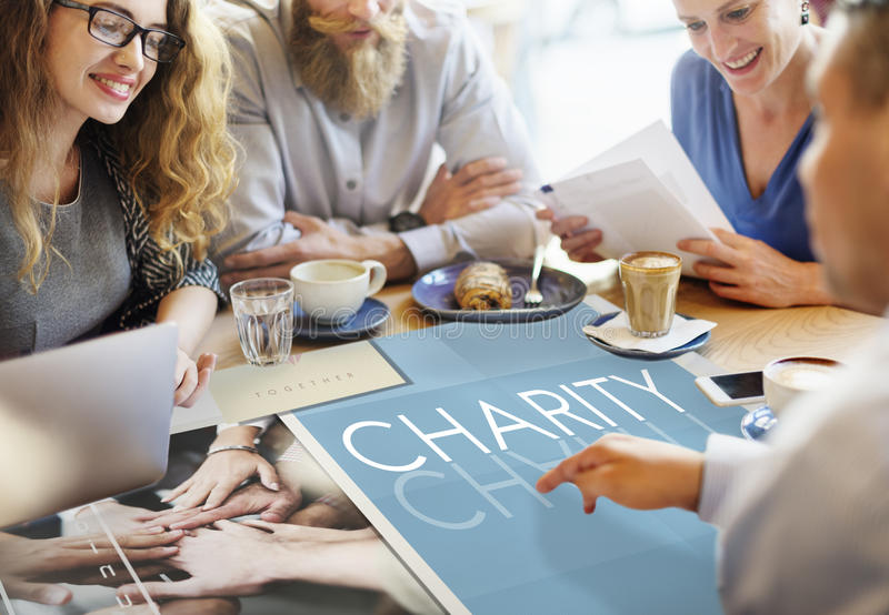 Concepto de Team Teamwork Help Share Contribute foto de archivo libre de regalías