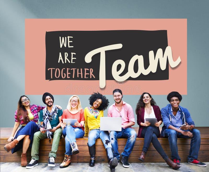 Concepto de Team Teamwork Togetherness Union Partnership fotografía de archivo libre de regalías