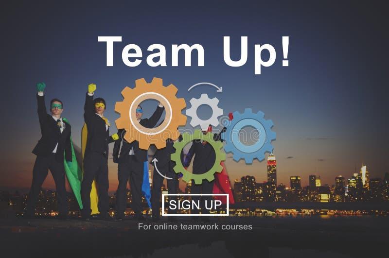 Concepto de Team Up Teamwork Collaboration Togetherness fotos de archivo libres de regalías