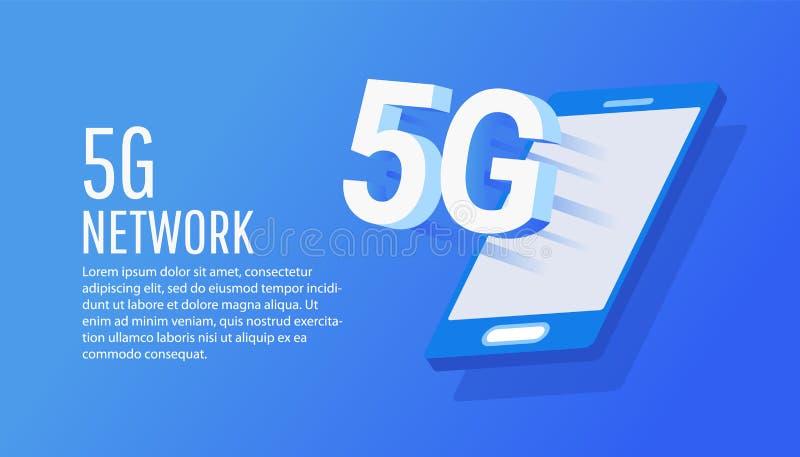 Concepto de tecnología inalámbrica de red 5G libre illustration