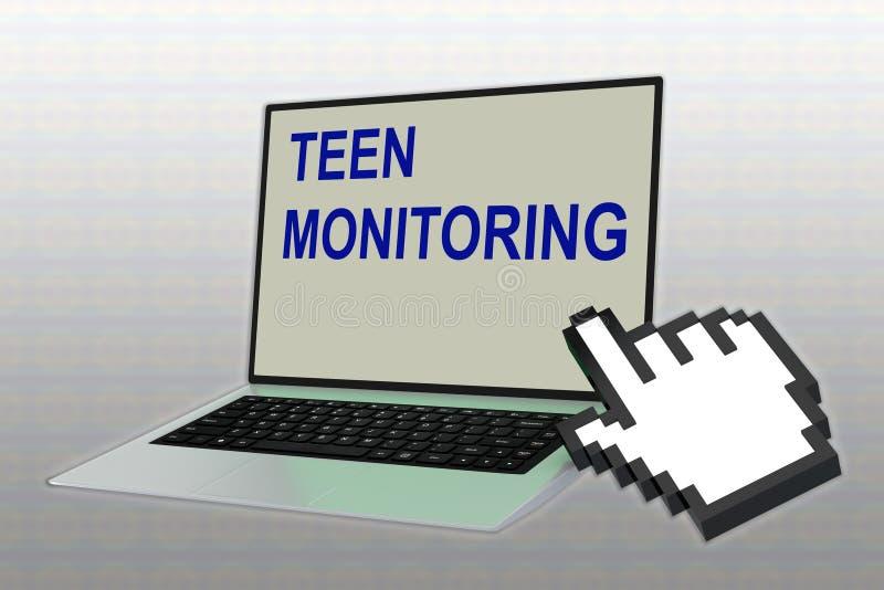 Concepto de TEEN-MONITORING libre illustration