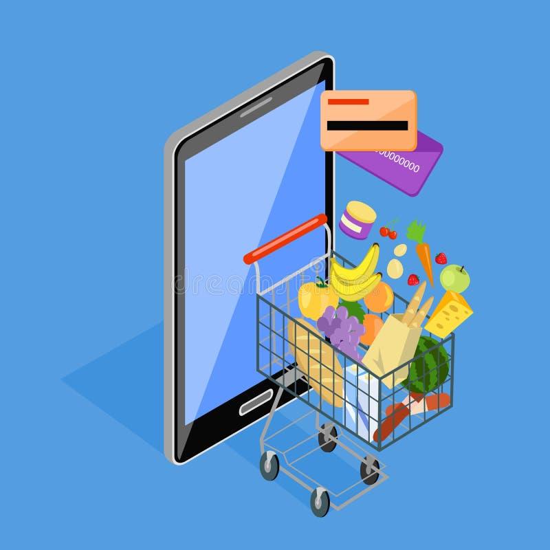 Concepto de tienda de Internet de las compras libre illustration