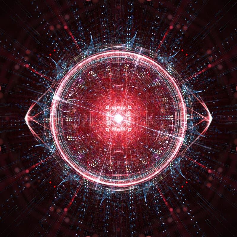 Concepto de un ordenador cuántico de la inteligencia artificial stock de ilustración