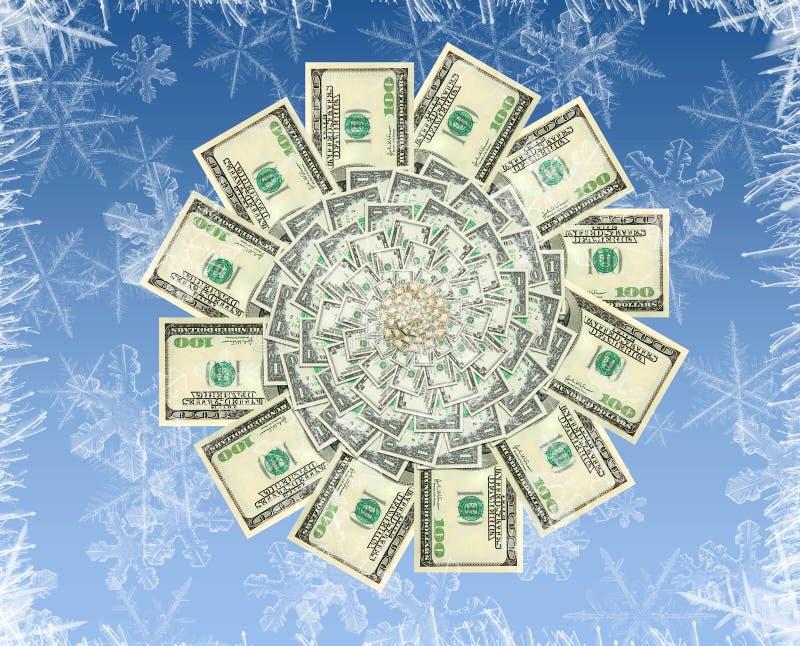 Concepto de una flor del dinero del invierno imagen de archivo