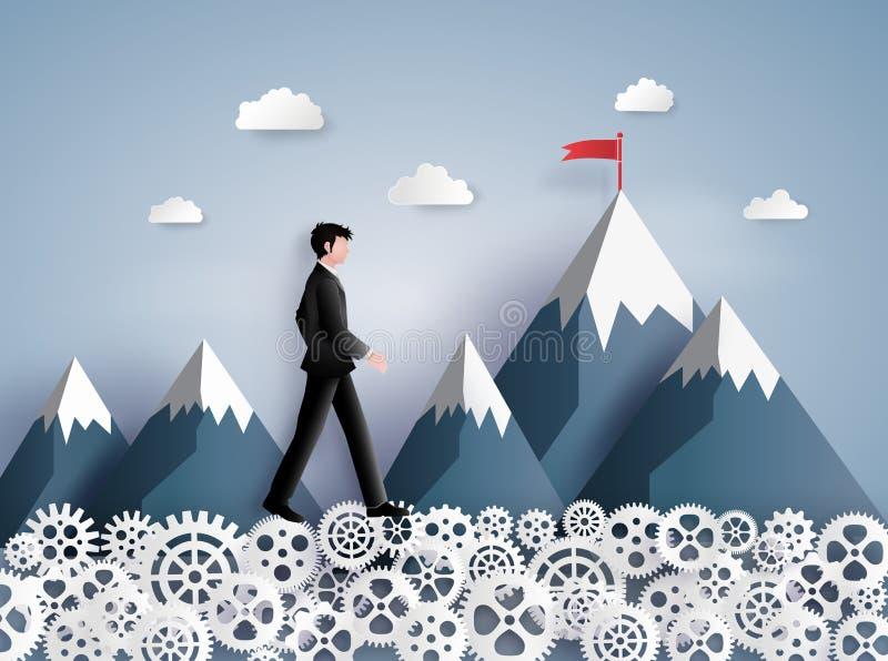 Concepto de visión del líder stock de ilustración