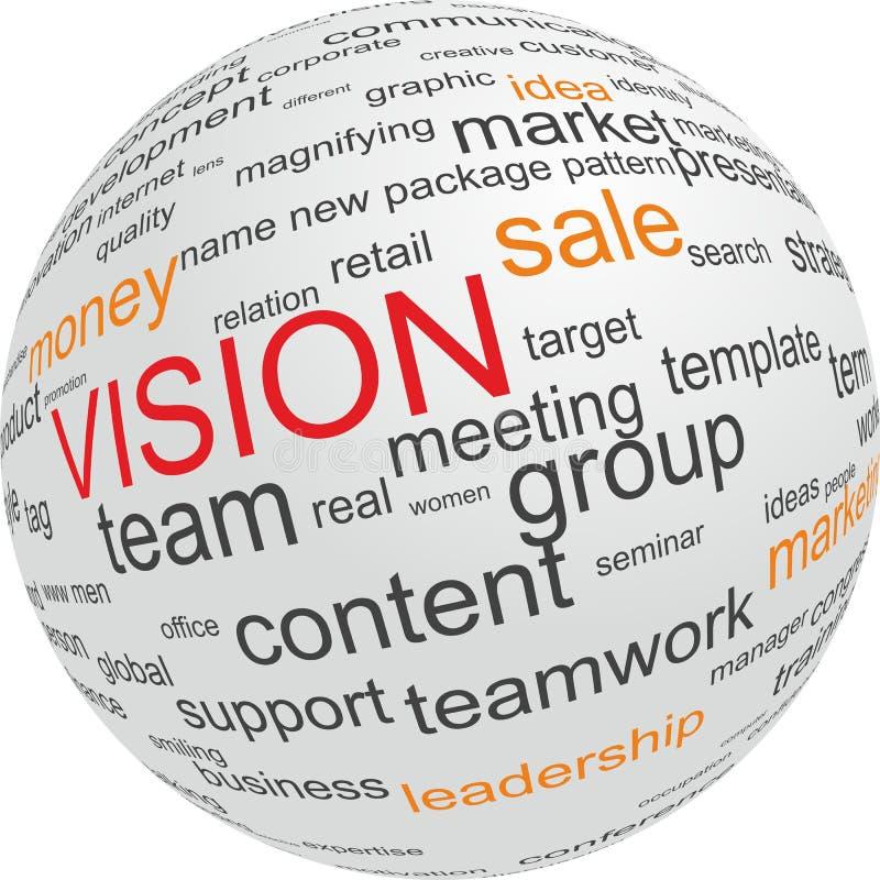 Concepto de visión en asunto ilustración del vector
