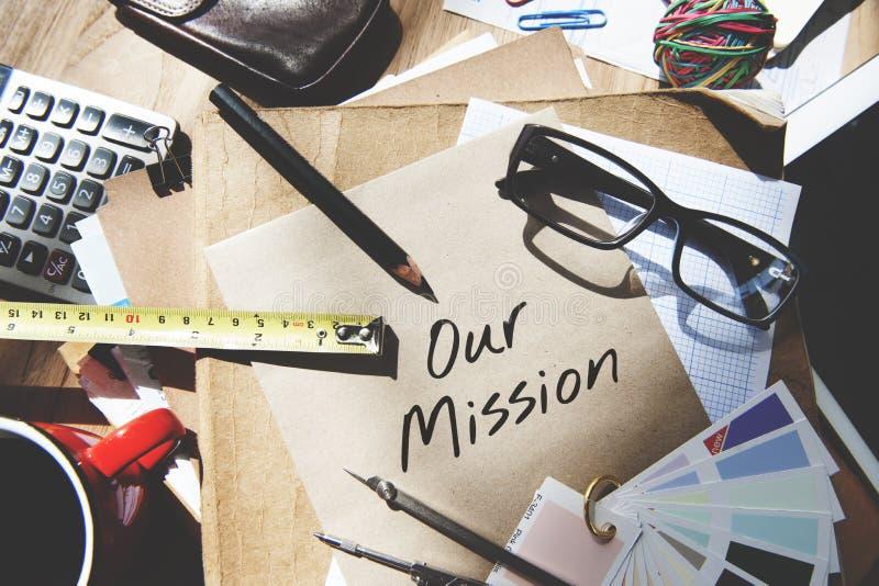Concepto de Vision de la inspiración de las ideas de las metas de la aspiración de la misión fotografía de archivo libre de regalías