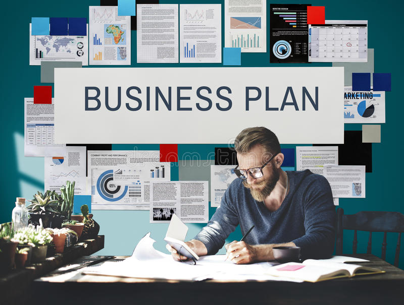 Concepto de Vision del proceso de planeamiento del plan empresarial imagen de archivo libre de regalías