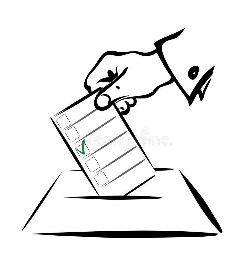 Concepto de votación 1 ilustración del vector