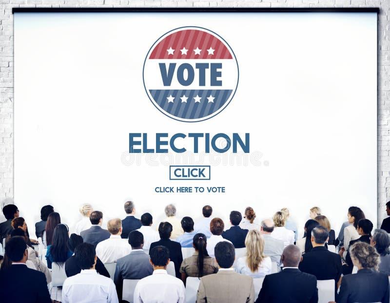 Concepto de votación bien escogido del gobierno del voto de la elección fotografía de archivo