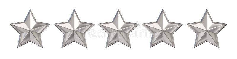 Concepto de votación Clasificación sin la estrella de oro 3d rinden ilustración del vector