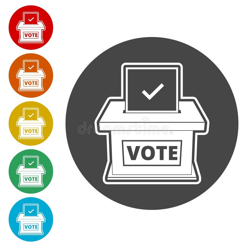 Concepto de votación, icono del concepto del voto, ejemplo plano del estilo del día de elección libre illustration