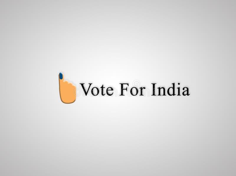 Concepto de voto indio de la elección para un símbolo mejor y de votación de la mano stock de ilustración