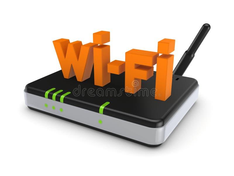 Concepto de Wi-Fi. ilustración del vector