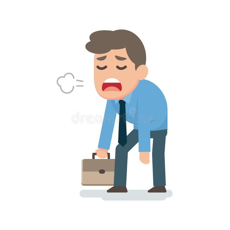 Concepto decepcionado cansado triste del hombre de negocios, ejemplo plano del vector stock de ilustración