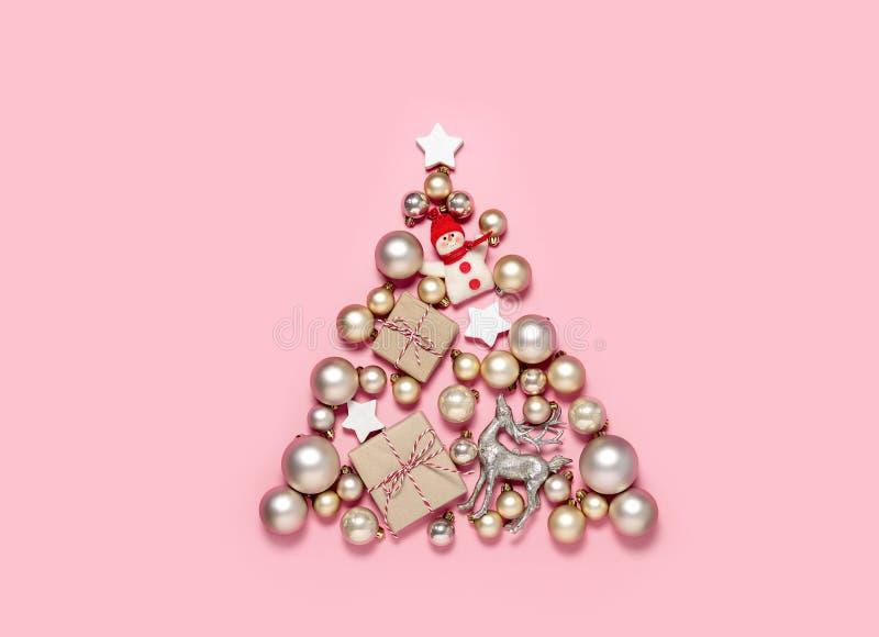 Concepto del árbol de navidad imágenes de archivo libres de regalías