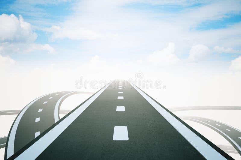 Concepto del éxito con el camino de la carretera ilustración del vector