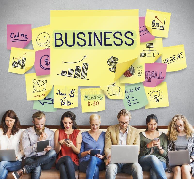 Concepto del éxito del crecimiento de la estrategia de marketing del plan empresarial imagen de archivo