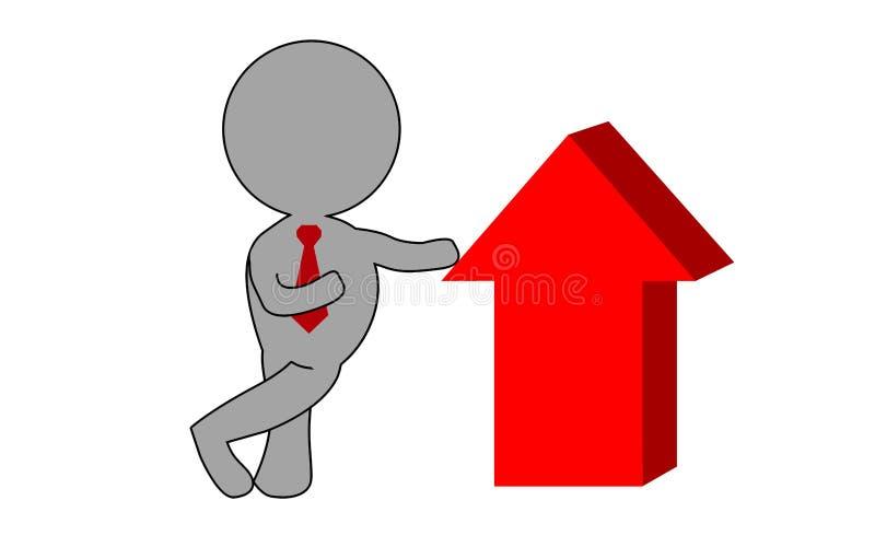Concepto del éxito empresarial con la flecha roja ilustración del vector
