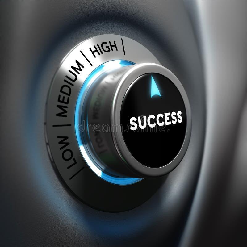 Concepto del éxito empresarial - motivación stock de ilustración