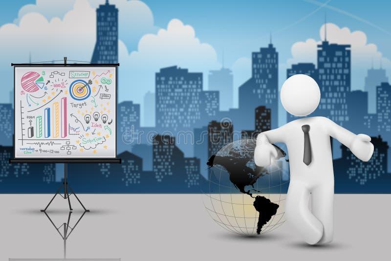 Concepto del éxito empresarial y de la estrategia stock de ilustración