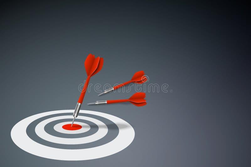 Concepto del éxito empresarial y de la estrategia ilustración del vector