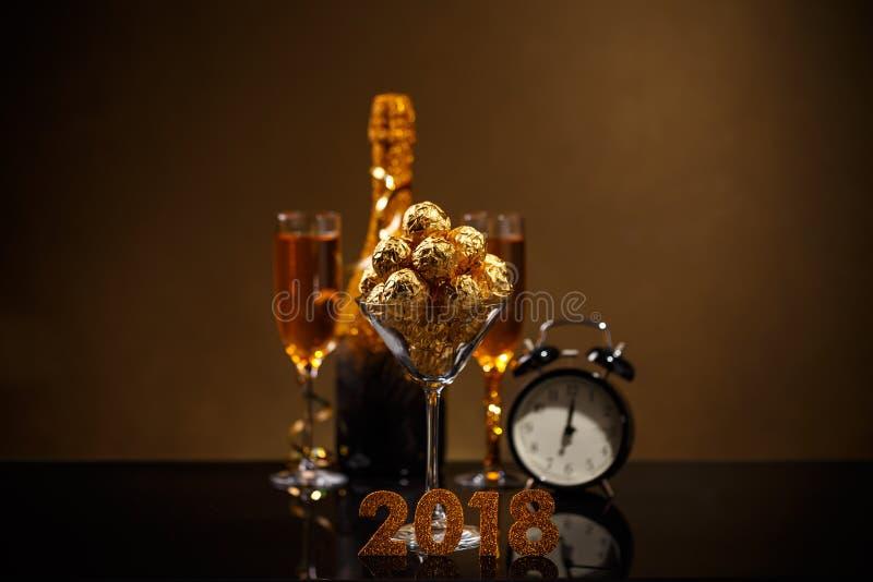 Concepto del Año Nuevo 2018 fotos de archivo
