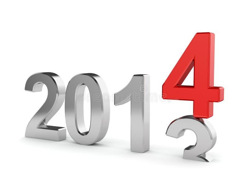Concepto del Año Nuevo stock de ilustración