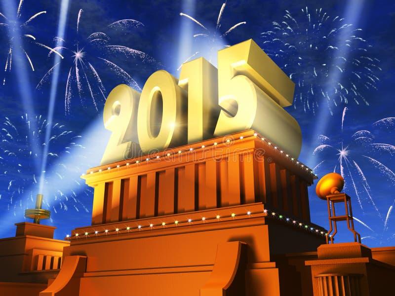 Concepto 2015 del Año Nuevo stock de ilustración
