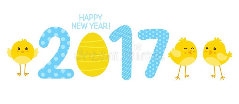 Concepto del Año Nuevo 2017 stock de ilustración